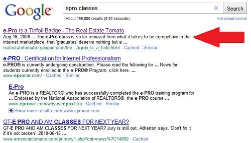 e-pro-google-screenshot